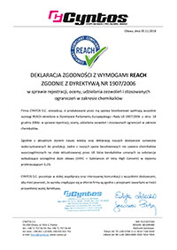 Oświadczenie REACH