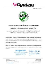 Oświadczenie RoHS